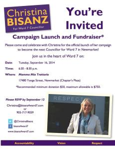 Campaign Launch and Fundraiser